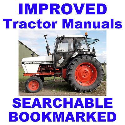 Case David Brown 1490 1690 Tractor Repair Shop Service Manual - Searchable Cd