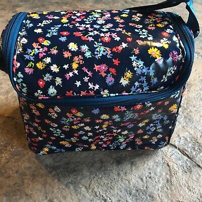 Vera Bradley SCATTERED WILDFLOWERS Stay Cooler Lunch Bag Camera Authentic NWT