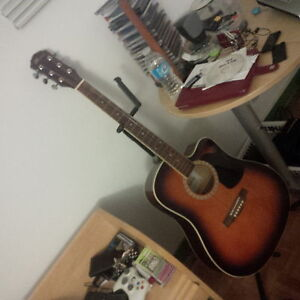 electric - acoustic guitar Madera