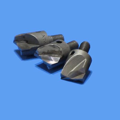 916 Rivet Shaver Bits Carbide Tips 3 Pc Lot Aircraft Aviation Tools