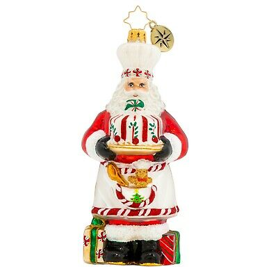 [NEW Christopher Radko BAKED WITH LOVE SANTA Christmas Ornament 1020376</Title]