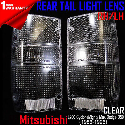 MITSUBISHI L200 MIGHTY MAX DODGE D50 REAR TAIL LIGHT CLEAR LENSES LH+RH Dodge D50 Tail Light