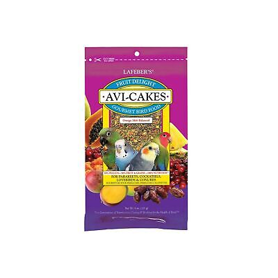 LAFEBER'S Fruit Delight Avi-Cakes Pet Bird Food, Made with