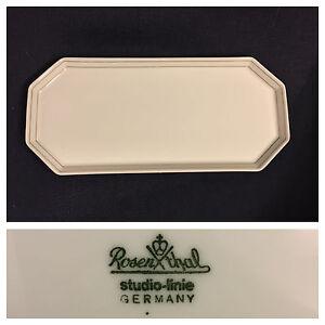 Eckige Platte Rosenthal Studio Line Tac Dynamic Gold Platte  Servierplatte 32 cm