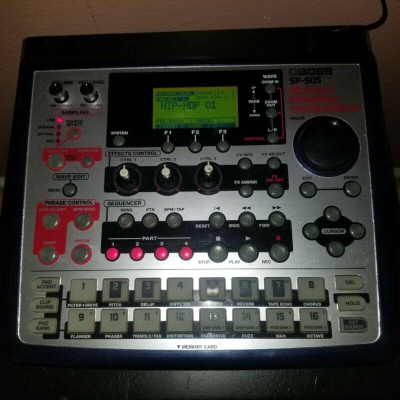 Roland Boss SP-505 Groove Sampling Workstation Samplers with adaptor.