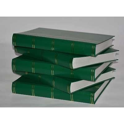 Briefmarkenalbum, Einsteckbuch, Einsteckalbum, 60 weiße Seiten, Grün, 5er-Karton