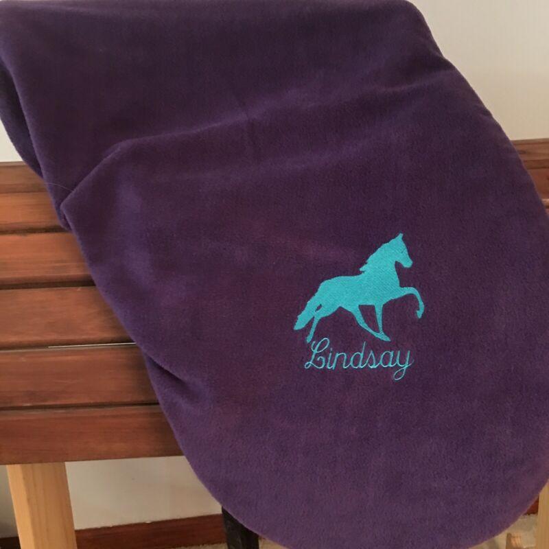 English Dressage, Hunt, Saddle Seat, Personalized Saddle Fleece Protector Cover