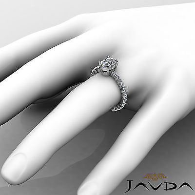 Shared Prong Oval Shape Natural Diamond Engagement Eternity Ring GIA F VS2 1.8Ct 3