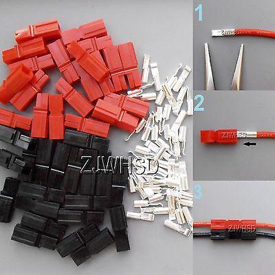 20 Pair Fits 30 Amp Power Red Black Pole Sermos Ac Dc Copper Wire Connectors Kit