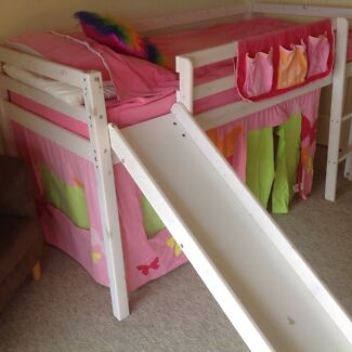 Single mid sleeper bed with slide Bucca Bundaberg Surrounds Preview