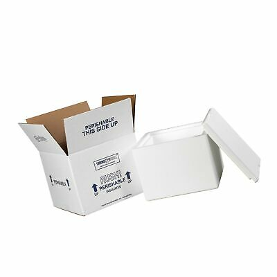 """Insulated Shipping Kits, 9 1/2"""" x 9 1/2"""" x 7"""", White, 1/Case"""