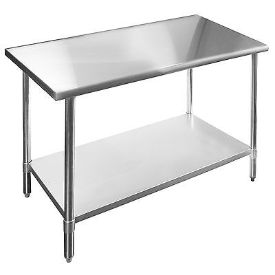 Commercial Stainless Steel Work Table - 18 X 36 - Heavy Duty Lj