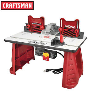 Craftsman router table ebay craftsman router table adjustable for home garage workshop woodworking wood cut greentooth Image collections