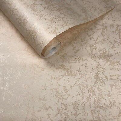 - 10m old vintage paper Marble Wallpaper rolls beige cream plain wall coverings