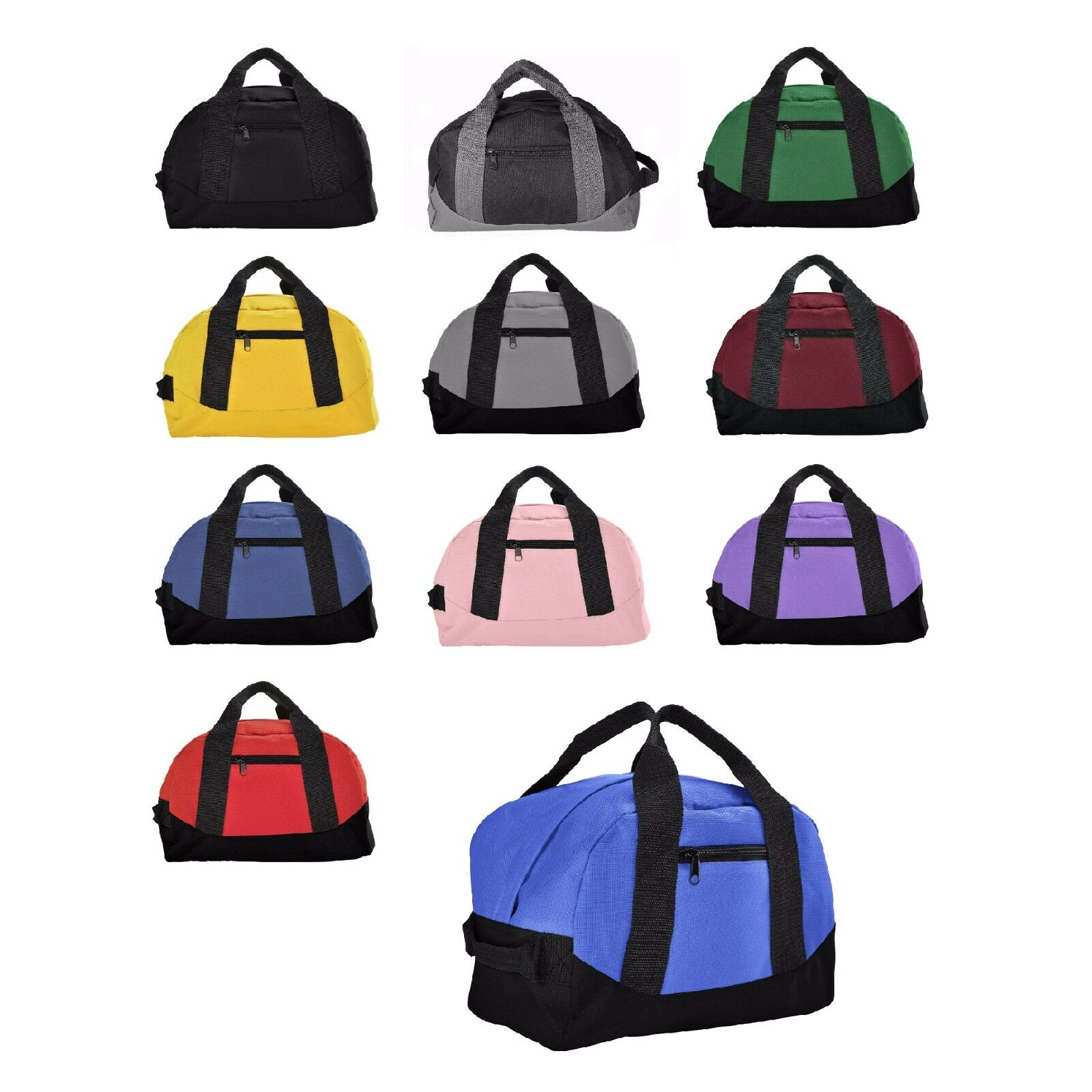 "DALIX 12"" Small Duffle Bag Gym Mini Travel Overnight Bag Bla"