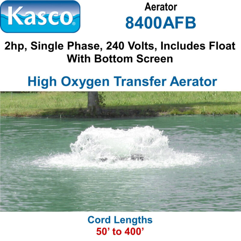Kasco 8400afb100 Aerator 2 Hp 240 Volts 100