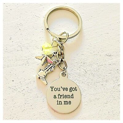 Toy Story Woody-Inspired Charm Keychain You've Got A Friend In Me - Toy Story Woody Accessories