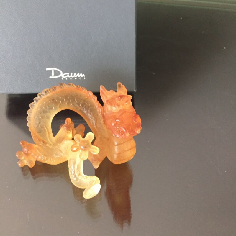 NEW Daum from France-Dragon Pate De Verre Crystal Limited Edition