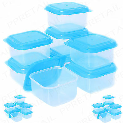 16 x PLASTIC BABY FOOD WEANING STORAGE POTS PACK Mini/Small Freezer Containers