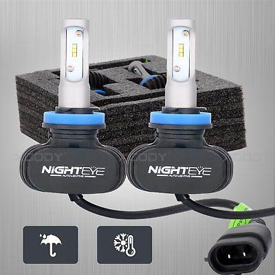 NIGHTEYE 8000LM H11 Car LED Headlight Kit Auto Bulbs Light Lamp White Beam 6500K