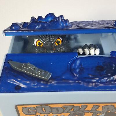 Godzilla Piggy Bank Hungry Eating Coin Money Saving Robotic Mechanical Save Toy
