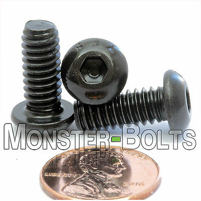 14-20 Button Head Socket Caps Screws Alloy Steel W Thermal Black Oxide Sae