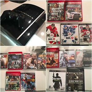 80GB PS3 and 16 games