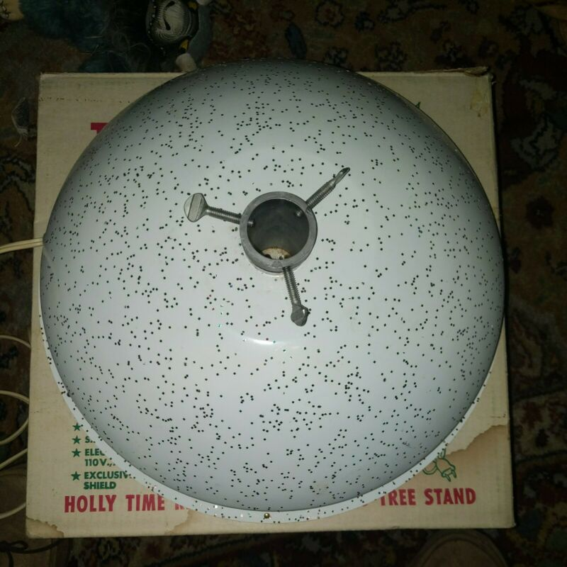 Vintage 1961 HOLLY TIME  A-30 Christmas Tree Turning Stand - Turner - EXCELLENT
