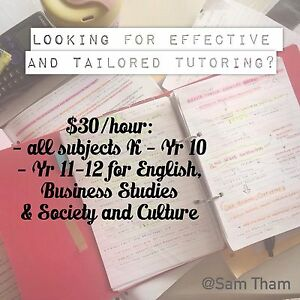 $30/hr for English Tutoring, Business Studies and Society & Culture Cherrybrook Hornsby Area Preview