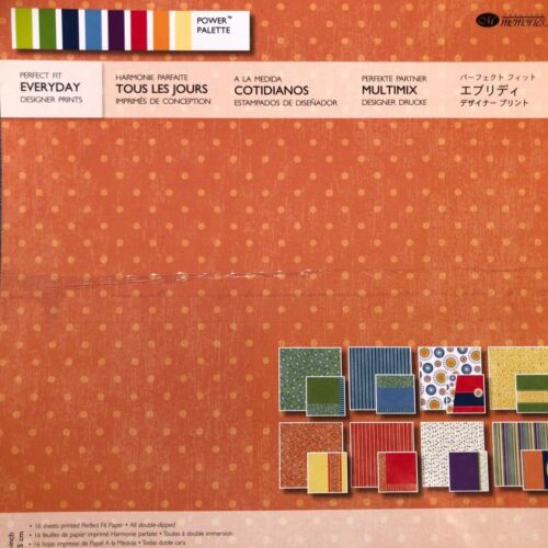 Creative Memories PERFECT FIT - EVERYDAY DESIGNER PRINTS PAPER PACK - 16 SHEETS