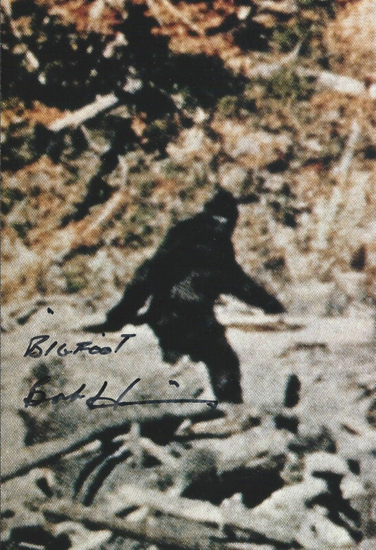 "Bob Heironimus signed autograph ""Bigfoot"" Patterson-Gimlin EXTRA RARE LOOK!!!"