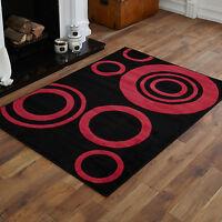 Moderno Grande Rosso Medio Nera 160x230 Cm Alogena Motivo Contemporanea Tappeti -  - ebay.it