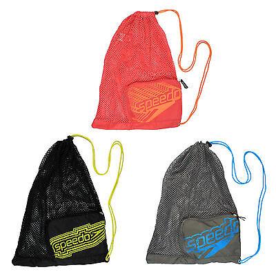 NWT Speedo Trendy Packable Swim Gear/Sport/Equipment Mesh Bag Black/Gray/Pink
