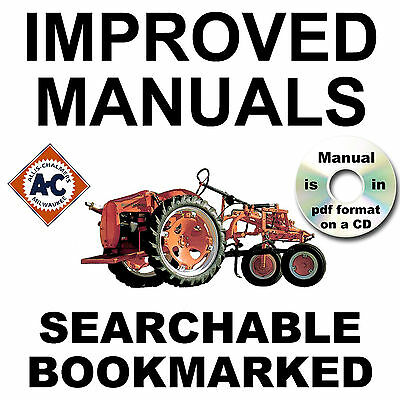 Allis Chalmers G Tractor Service Parts Manual Owners Implements -5- Manuals Cd