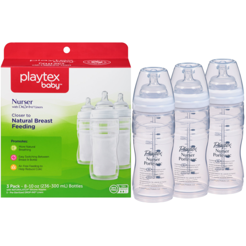 Playtex Baby Nurser Bottles with Drop-Ins Disposable Liners