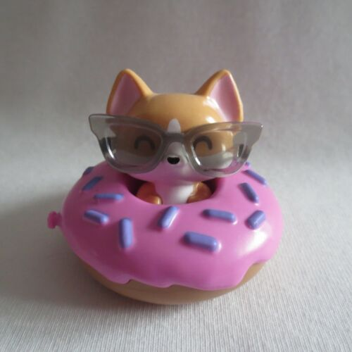 NEW! 2021 Barbie Extra Doll Pet Puppy Dog, Glasses & Donut Tube