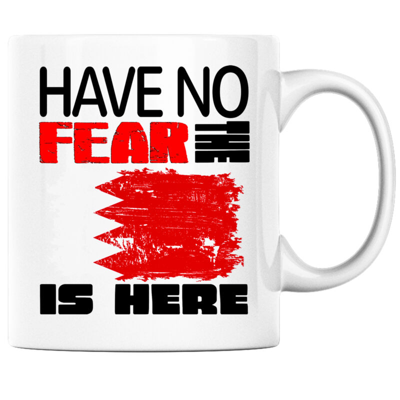 Have No Fear the Bahrani is Here Funny Coffee Mug Bahrain Heritage Pride