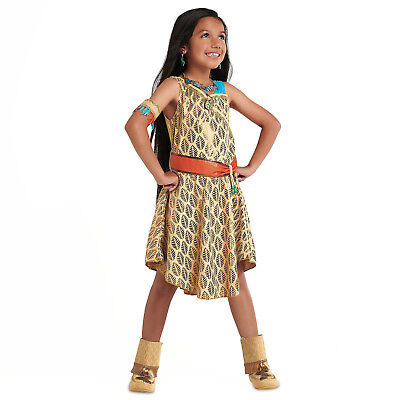 Girl POCAHONTAS Costume Dress Child Small 5 6 DISNEY STORE Indian Princess