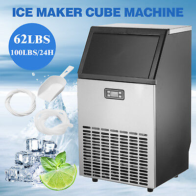 Commercial Built-in Ice Maker Stainless Steel Restaurant Ice Cube Machine