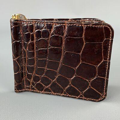 RALPH LAUREN Textured Brown Alligator Wallet