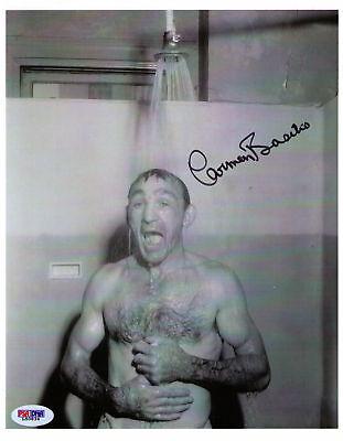 (Carmen Basilio signed auto autograph photo picture boxing boxer COA PSA/DNA)