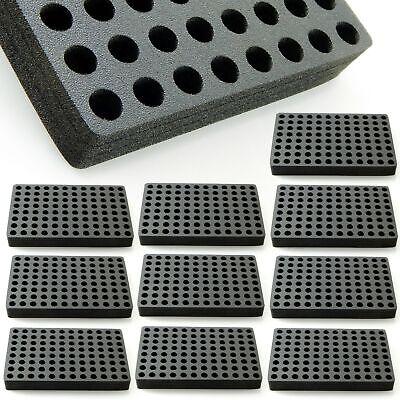 10 Vial Racks Organizer Storage Foam Stand Holder 96 Capacity Hplc 13mm Diameter