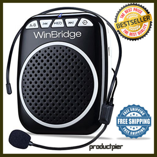 Portable Rechargeable Mini Voice Amplifier Speaker W/ Wired Microphone Headset
