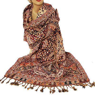 Schal Damenschal Classic Stil Warm Langschal Orient Jamawar 200x70cm Viskose 23 Classic Schal