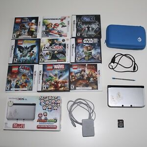 Nintendo 3DS XL  with case + 10 games