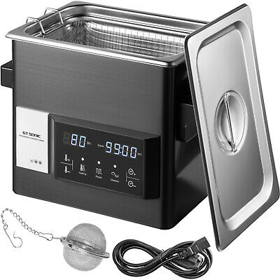Vevor Touch Ultrasonic Cleaner Ultrasonic Cleaning Machine 3l Stainless Steel