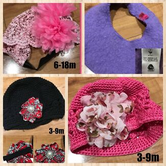 Baby summer hats and winter beanies plus cakesmash tutu outfit