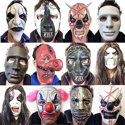 Mick Grau Fehn Schneider Clown Halloween Horror Kostüm (Clown Slipknot Maske)