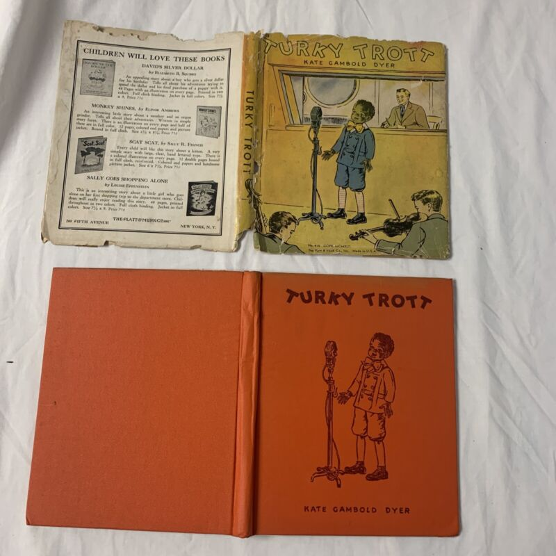 Turky Trott and the Black Santa Kate Gambold Dyer 1942 First Edition DJ GREAT