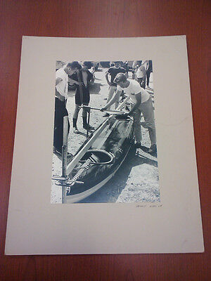 Large original photograph by well known photographer Arnout Hyde of Kayak c1970